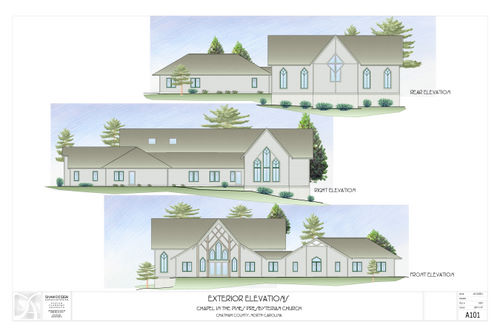 Elevations and Floor Plan – Chapel In The Pines